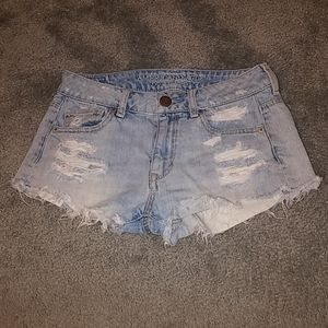 American Eagle Jean Distressed Shorts